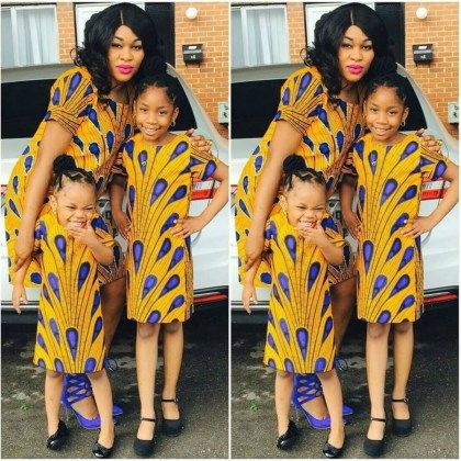 Ankara Matching Outfit Styles Mothers & Daughters