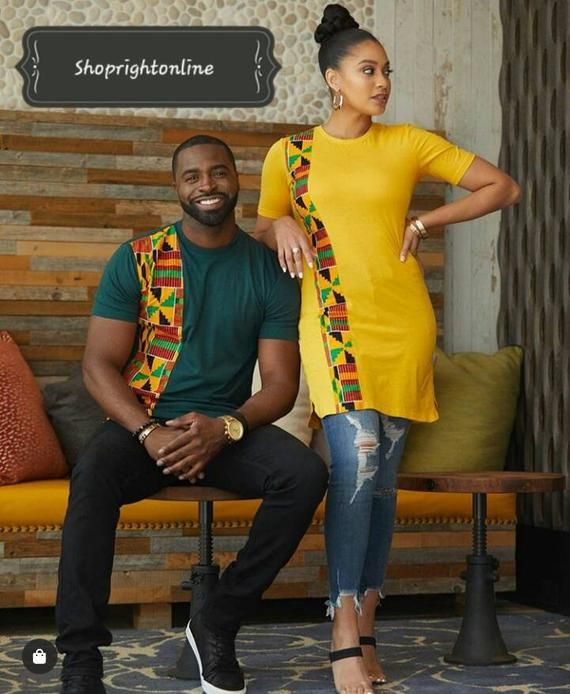 Items similar to Ankara printed t-shirt gift for boyfriend and girlfriend on Etsy
