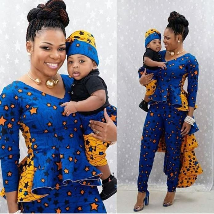 Too Cute_ 25 Ankara Mother And Daughter Matching Outfits